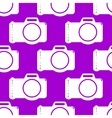 Photo camera web icon flat design Seamless gray vector image