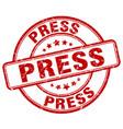 press red grunge round vintage rubber stamp vector image vector image