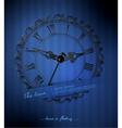 retro clock vector image vector image