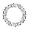 round calligraphic wedding frame wreath vector image vector image