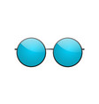 round sunglasses 3d summer sunglass shade vector image vector image