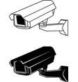security camera 2 vector image vector image