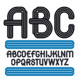set of capital funky alphabet letters isolated vector image vector image