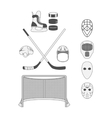 Set of Hockey Elements vector image vector image