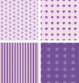 set of nice simple patterns vector image vector image