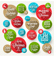 Set of round frames with Christmas greeting vector image vector image