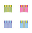 set of storefront icons with awning shopping vector image vector image