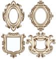 set vintage heraldic frames vector image