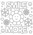 smile more coloring page vector image