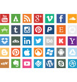 social media icon set vector image vector image