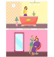 spa salon receptionist hair styling service vector image vector image