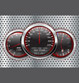 speedometer tachometer fuel and temperature vector image vector image