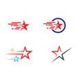 star logo template icon vector image vector image