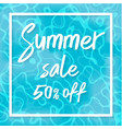 summer sale top view of summer vector image vector image