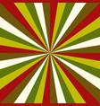 sunburst christmas pattern radial stripes vector image vector image