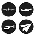 transportation icons set helicopter plane paper vector image