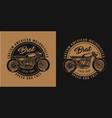 vintage custom motorcycle round print vector image vector image
