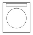washing machine the black color icon vector image vector image