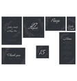 wedding suite collection card templates vector image vector image