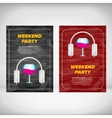 Weekend party leaflet with wine glass vector image vector image