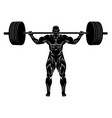 weightlifter with barbell vector image