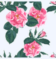 wild violet rose seamless pattern vector image vector image