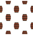wine wooden barrel pattern flat vector image vector image