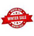 Winter sale ribbon winter sale round red sign