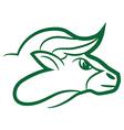 zodiac sign taurus logo vector image