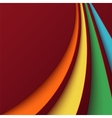 Abstract background with colorful curved lines vector image