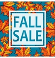 Fall sale seasonal banner vector image