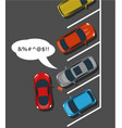 bad car parking top view vector image
