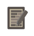 document icon contract paper pen writing hand vector image
