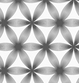 Monochrome linear striped six pedal flowers vector image