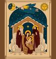 adoration of the magi christmas nativity scene vector image