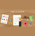 asset allocation concept with business man vector image vector image