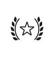 award star icon graphic design template vector image