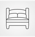 bed icon sign symbol vector image vector image