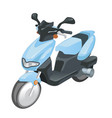 blue moto scooter city transport two wheel vector image