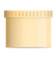 butter jar mockup realistic style vector image vector image