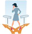 Career or family vector image vector image