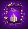 christmas candle background vector image vector image