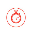 chronometer icon on white vector image