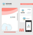 cloud downloading business logo file cover vector image vector image