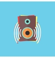 colorful audio speaker icon vector image vector image