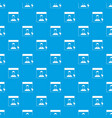 cursor point man on monitor pattern seamless blue vector image vector image