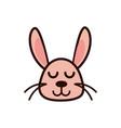 cute face rabbit animal cartoon icon vector image vector image