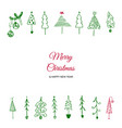 doodle christmas tree vector image