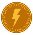 electric strike digital coin vector image vector image
