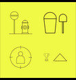 essential linear icon set vector image vector image